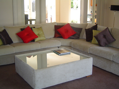Corner Settee with Cushions
